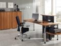 Geïntegreerde balie bureau werkplek