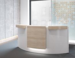 Entreemeubilair kantoor hotellobby c-vorm rond