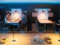 Decoratieve verlichting restaurant cafe tafel
