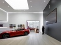 Decoratieve verlichting showroom wanden