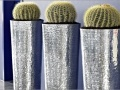 Aluminium gehamerde plantenbakken