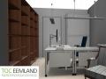 Interieurtekening werkplekverbetering thuiswerkplek