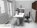 Interieurconcept zit sta bureau thuiswerkplek