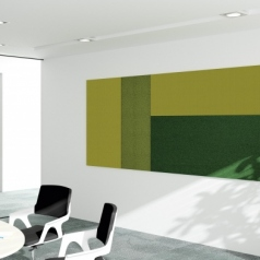 Akoestische panelen muur